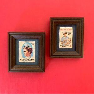 Pair of framed Vintage Red Cross Stamps